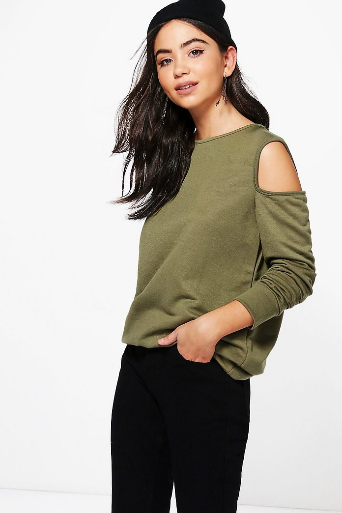 Layla Cold Shoulder Sweatshirt