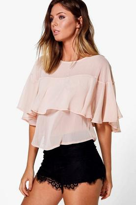Paige Woven Ruffle Top