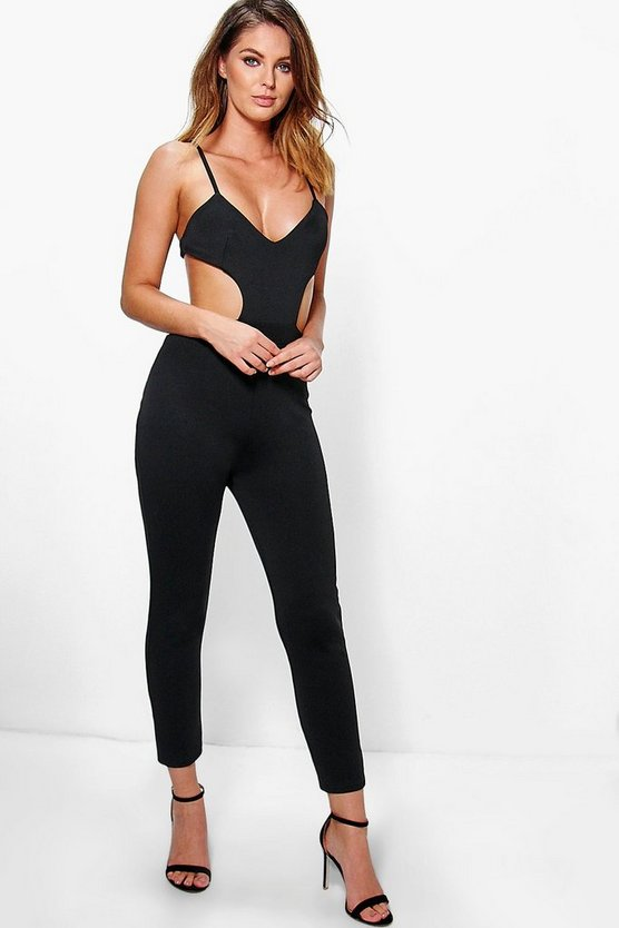 Alix Strappy Cut Out Side Skinny Leg Jumpsuit