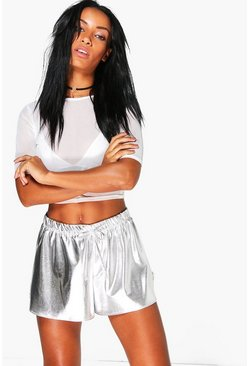 Nadia Metallic Runner Shorts