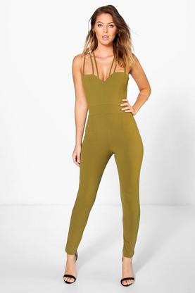 Alice Lattice Strap Skinny Leg Jumpsuit