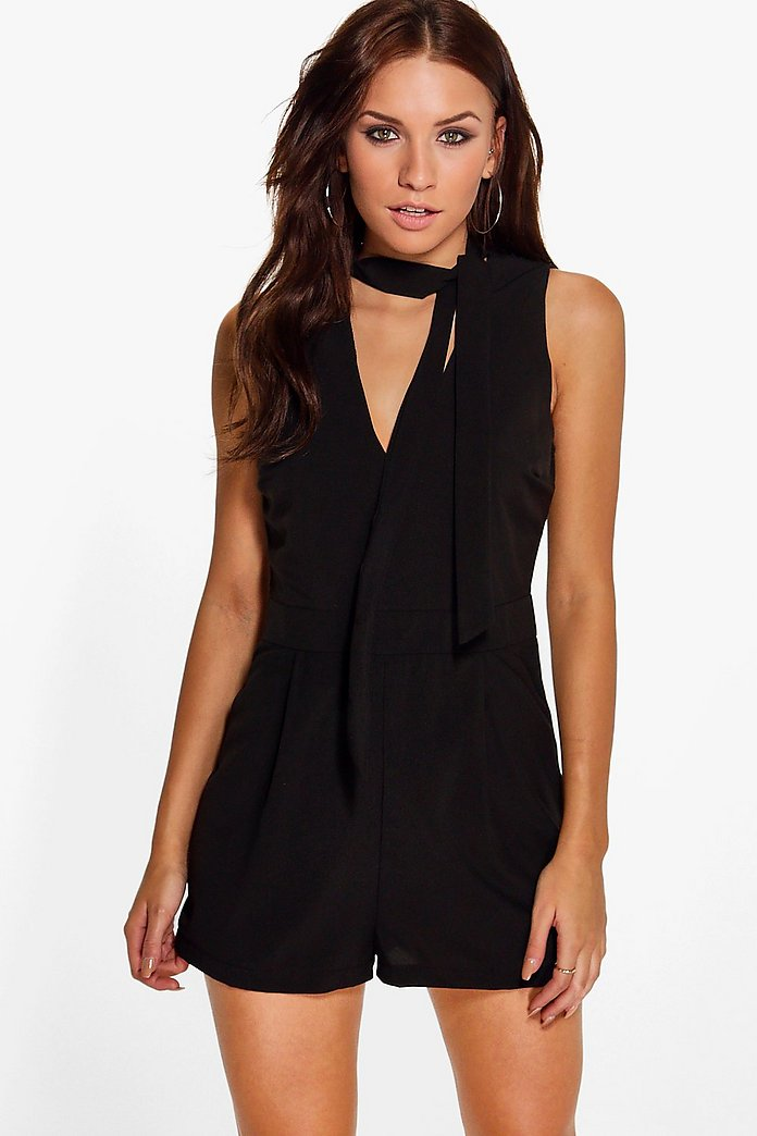 Libby Tie Neck Playsuit