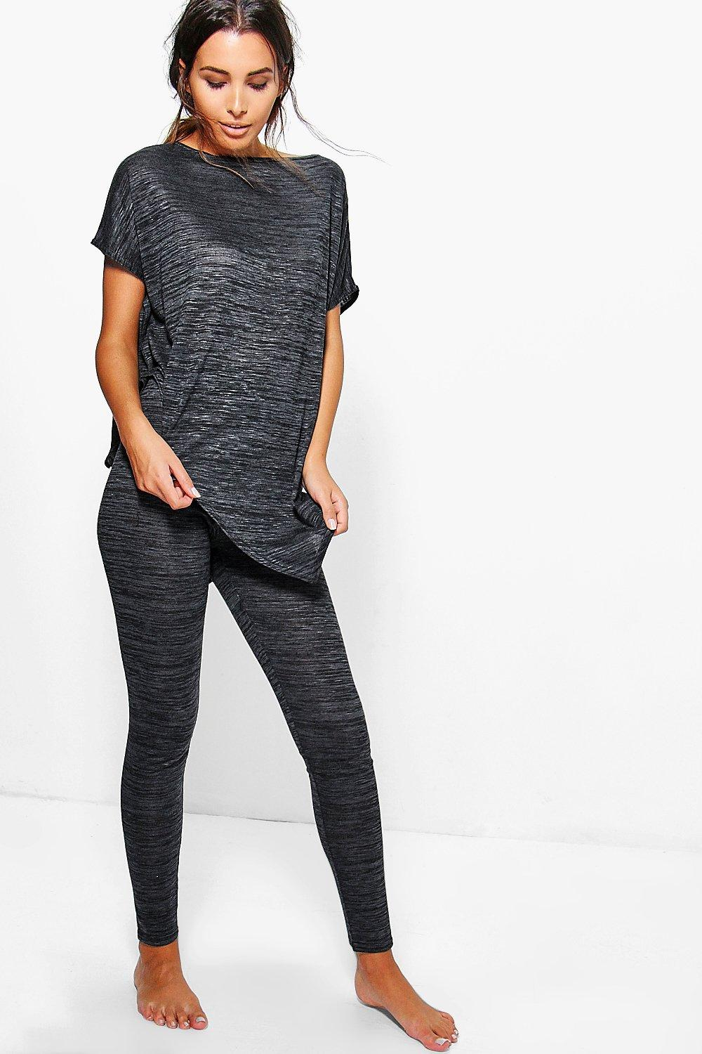 Louise Asymmetric Tee Knitted Loungewear Set