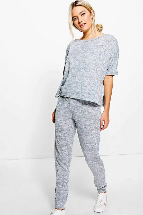 Jayne Oversized Tee & Jogger Knitted Lounge Set