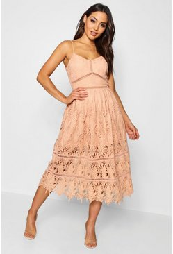 Boutique Eva Corded Strappy Skater Dress
