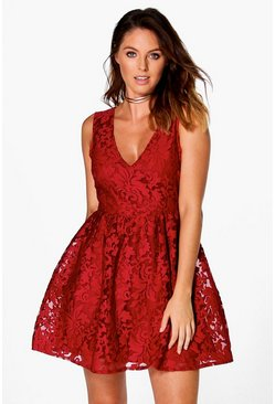 Aiyla Embroided Organza Skater Dress