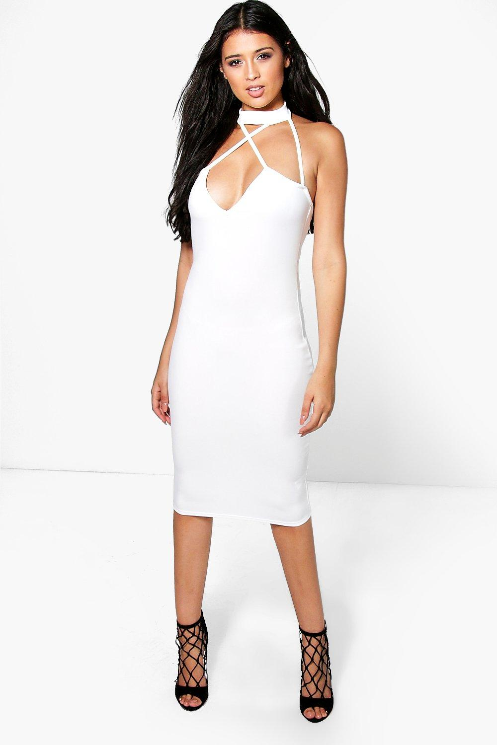 Cleo Choker Strappy Midi Dress