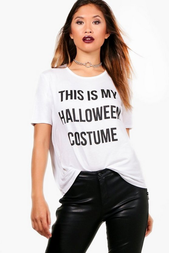 Harriet Halloween Costume Slogan Oversized T-Shirt