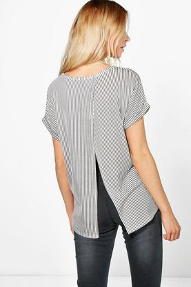 Lola Stripe Open Back T-Shirt