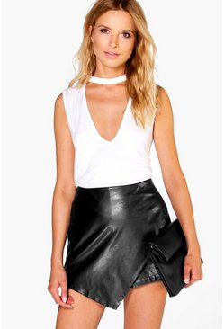 Megan Choker Neck Plunge Top