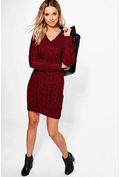 Julia Soft Knit Cable Jumper Dress