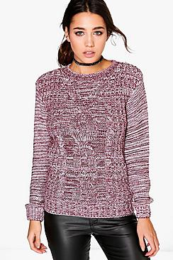 Bella Marl Cable Knit Jumper