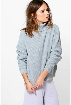 Isabel Oversized Fisherman Roll Neck Jumper