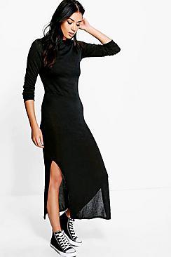 Eliza Knitted Maxi Lounge Dress plus size,  plus size fashion plus size appare
