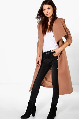 Evie Shawl Collar Wrap Coat