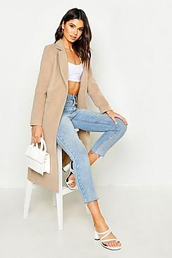 Megan Tailored Camel Coat