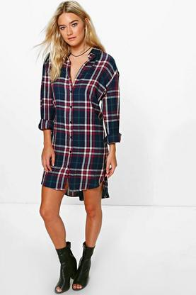 Anika Checked Shirt Dress