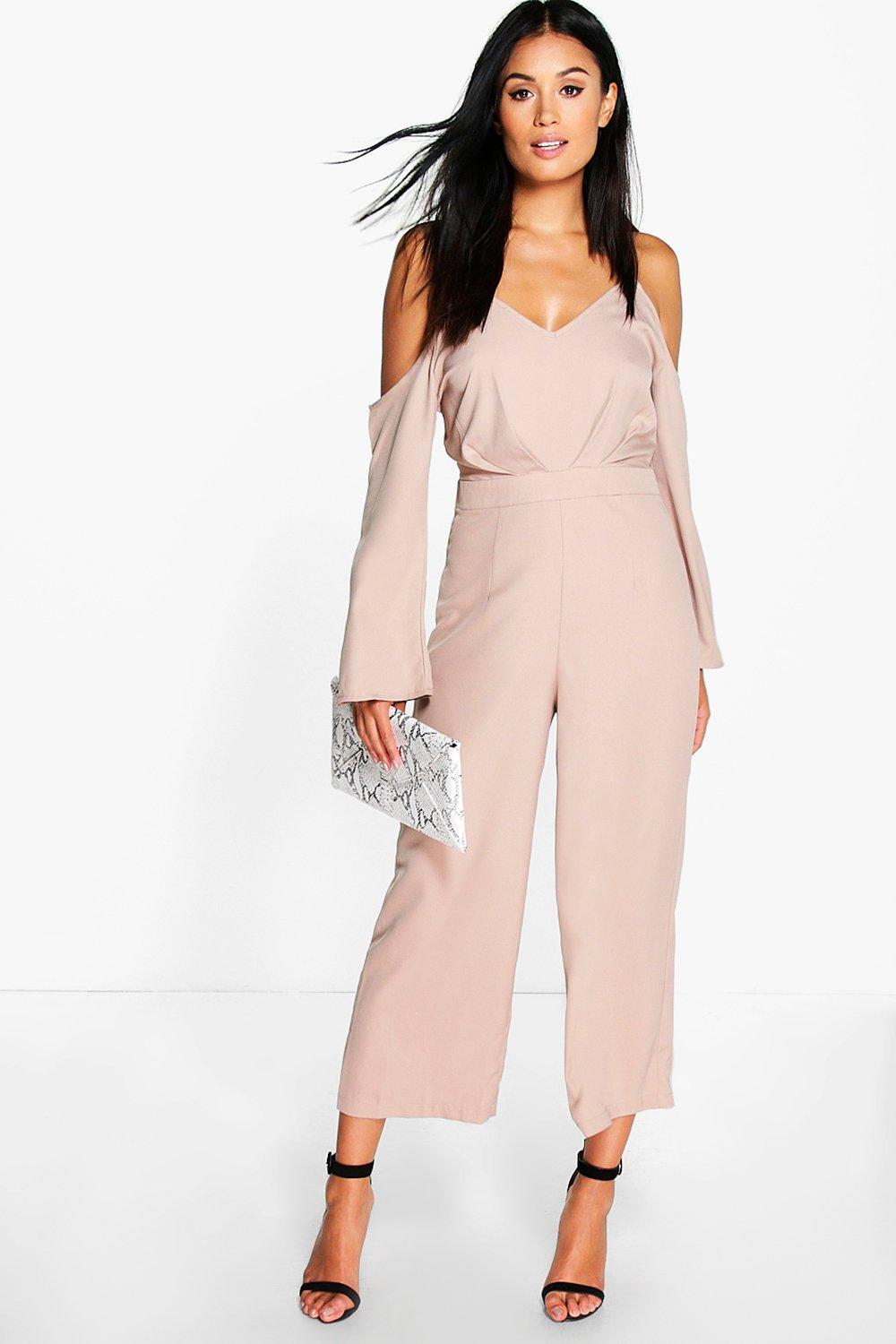 Ana Cold Shoulder Culotte Jumpsuit