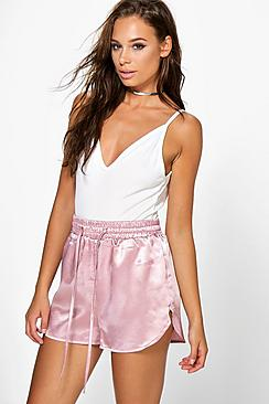 Hanna Satin Runner Shorts