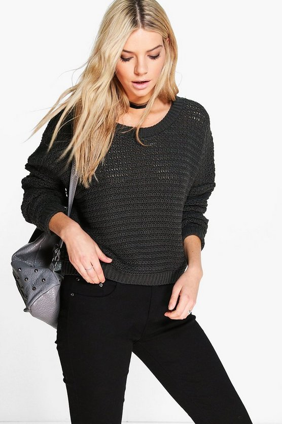 Ellie Open Stitch Cropped Jumper