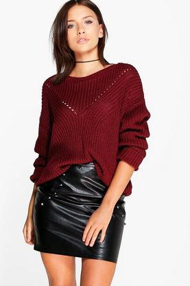 Lacey Mix Stitch Fisherman Jumper
