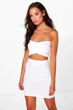 Ruby Wrap Crop And Mini Skirt Co-ord