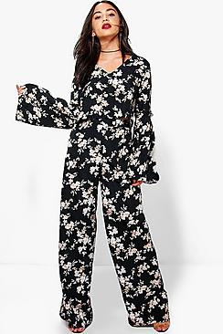 Ruby Floral Crop And Trouser Co-Ord