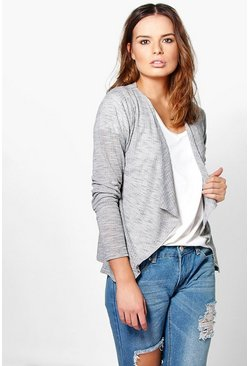 Faith Marl Knit Waterfall Cardigan