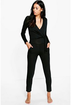 Julia Wrap Front Knitted Jumpsuit