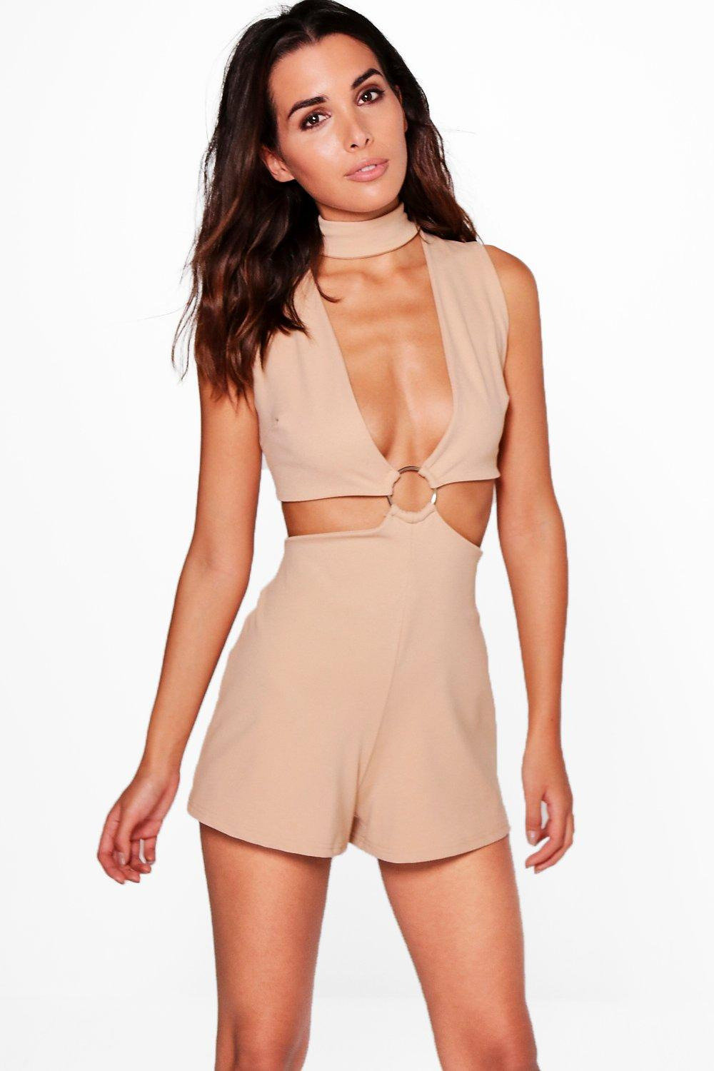 Amy Choker Style Ring Detail Playsuit