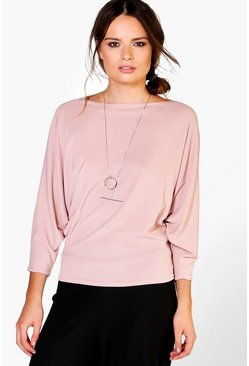Saskia Rib Batwing Sweat