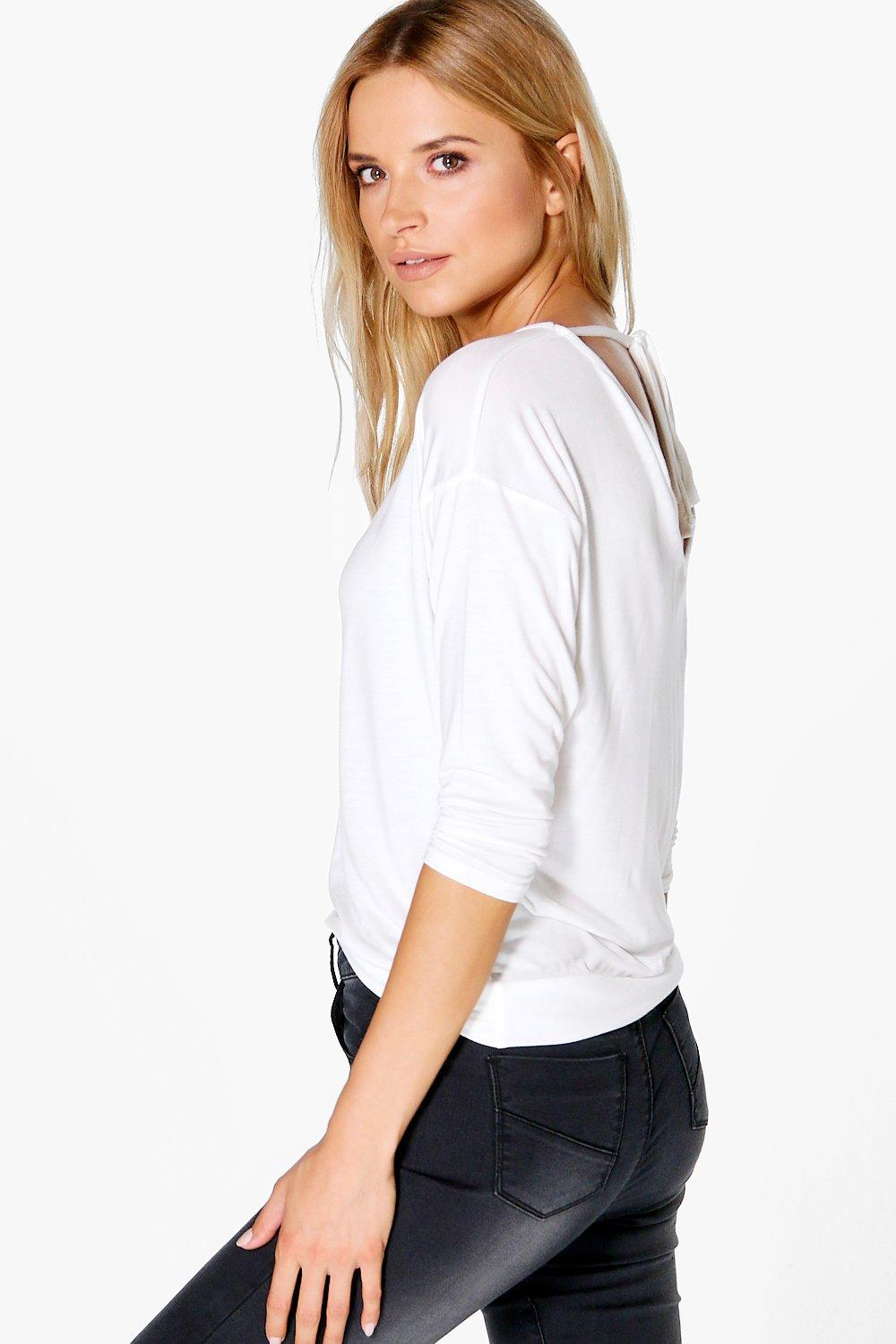 Emilia V Neck Tie Back T-Shirt
