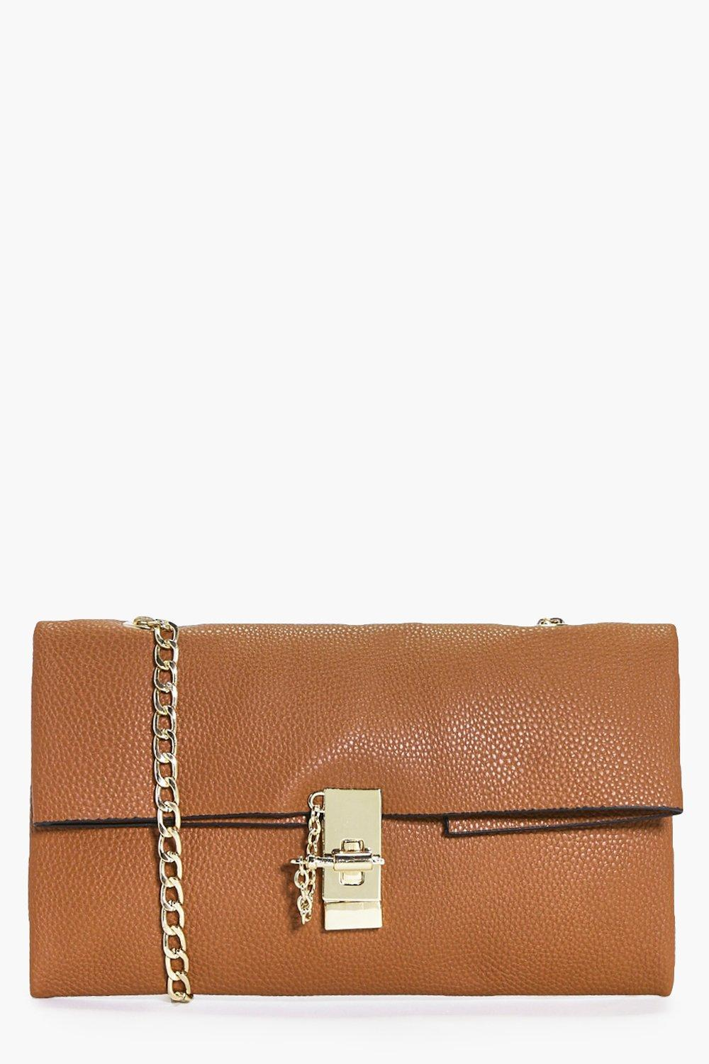 Julia Turn Lock Chain Strap Clutch Bag