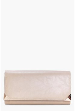 Maya Metal Corner Detail Clutch Bag