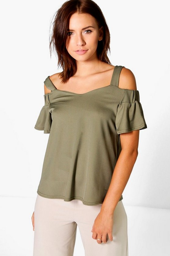 Tara Crepe Off The Shoulder Top