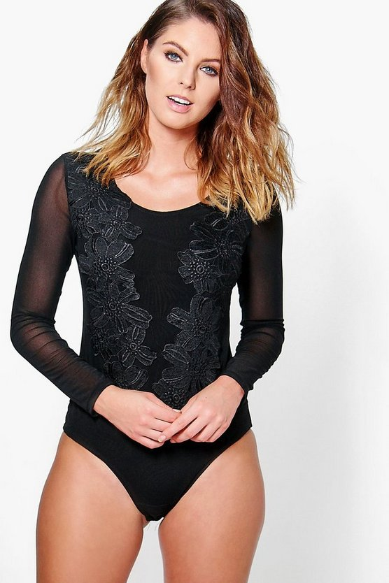 Victoria Applique Lace Mesh Body