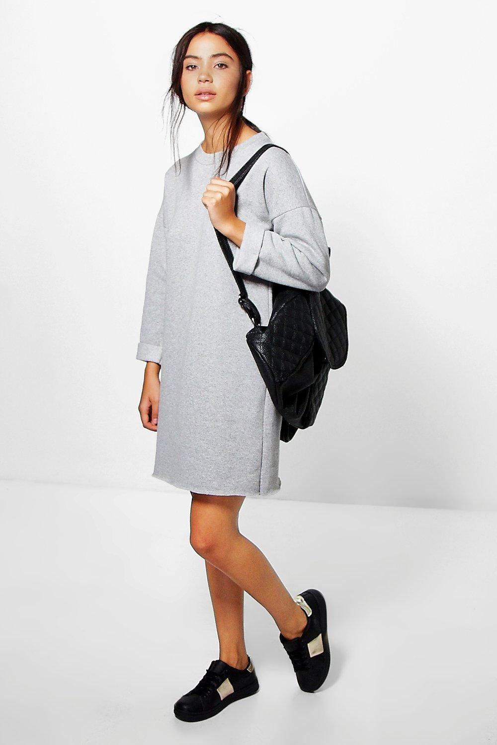 Zigournie Fleece Back Sweat Dress