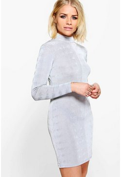 Cesca High Neck Bodycon Dress