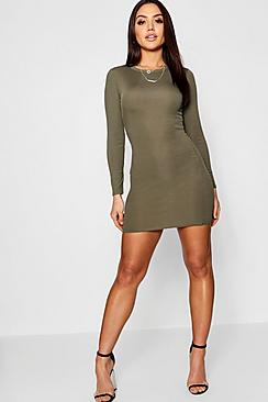 Una Basic Long Sleeve Bodycon Dress