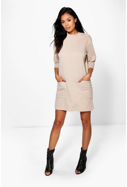 Flo Oversized Pocket Front Box Shift Dress