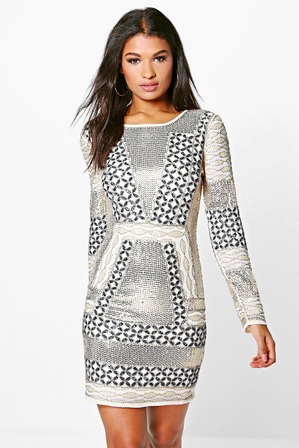 Boutique Yasmin Embellished Bodycon Dress