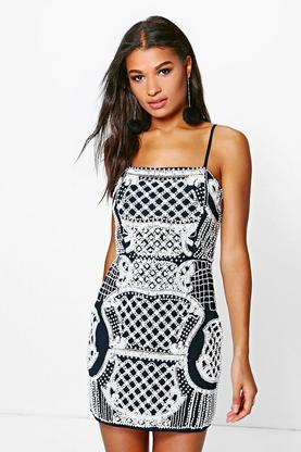 Boutique Kim Embellished Bodycon Dress