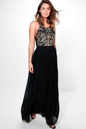 Boutique Beryl Embellished Top Maxi Dress