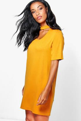 Alessandra Choker Shift Dress