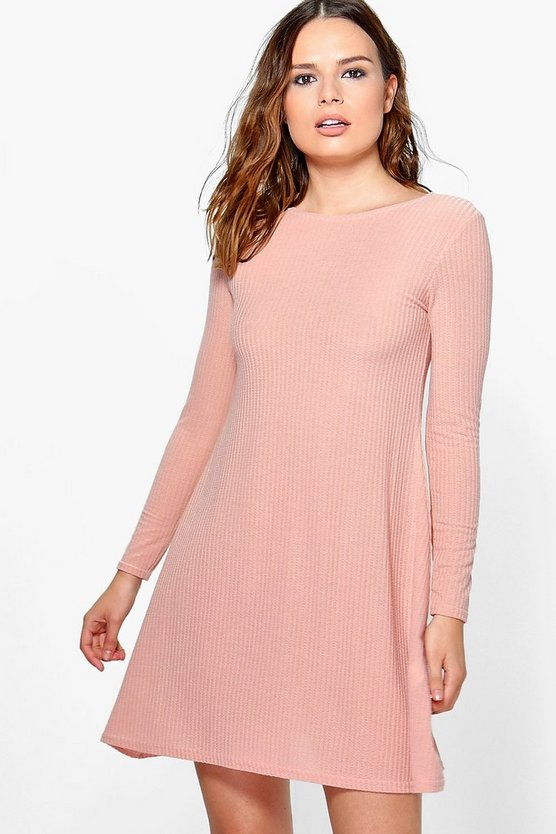 Daisy Soft Rib Knit Swing Dress