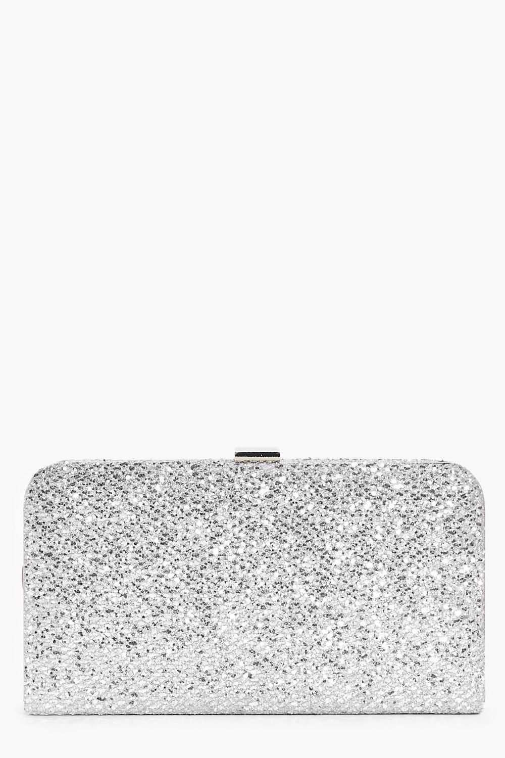 Lydia Metallic Textured Box Clutch Bag