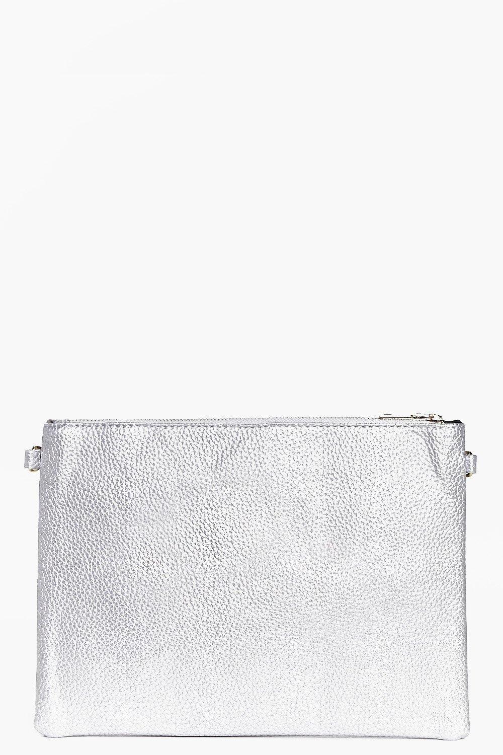 Tia Reversible Suedette and Metallic Clutch