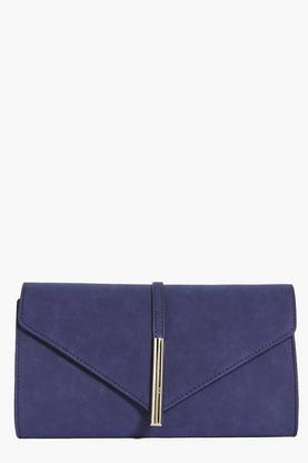Tilly Metal Tube Clasp Detail Clutch Bag