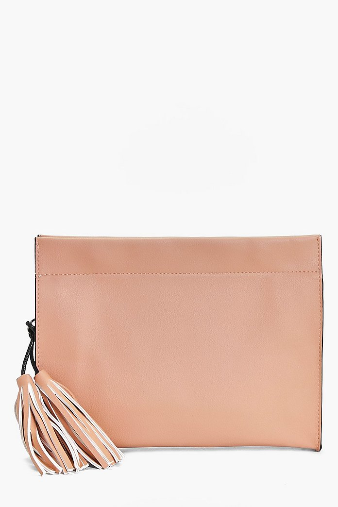 Yasmin Structured Tassel Clutch Bag