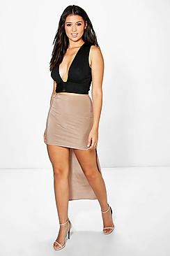Camille High Low Soft Touch Maxi Skirt